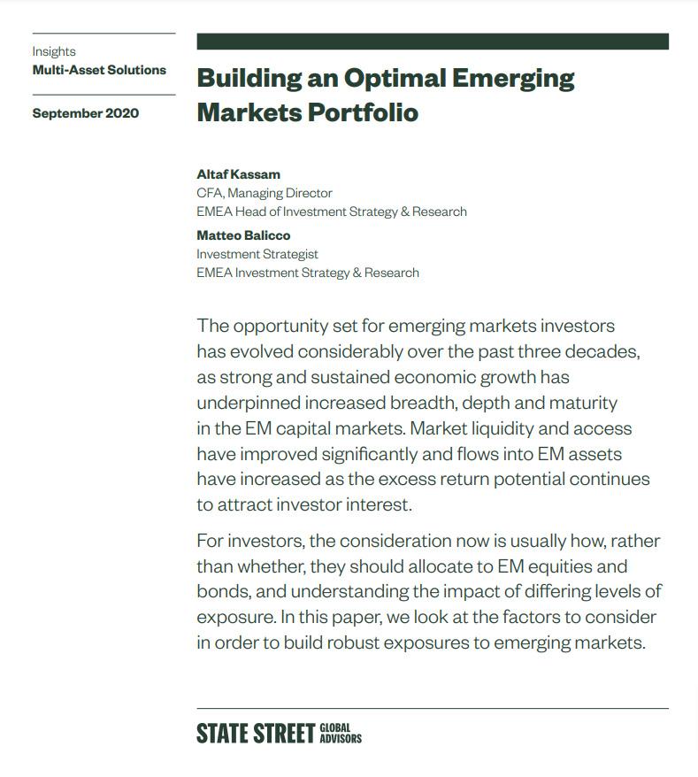 Building an Optimal Emerging Markets Portfolio