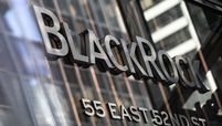 Entrance to BlackRock headquarters in New York