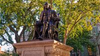 Statue of Ben Franklin on the campus at the University of Pennsylvania