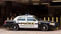 Police car in the city of San Antonio