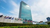 the United Nations building New York