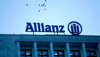 The Allianz SE logo on a top of a building in Berlin on Jan. 4, 2017.