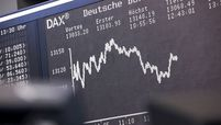 The trajectory of the DAX Index curve is displayed inside the Frankfurt Stock Exchange, operated by Deutsche Boerse, in Frankfurt on Aug. 31, 2020.