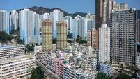 Residential buildings in Hong Kong on Feb. 20, 2020