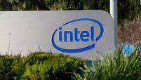 A sign at the entrance to Intel headquarters in Santa Clara, Calif., on Jan. 20, 2021
