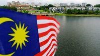 A  Malaysia flag flies in Putrajaya on Sept. 23, 2020