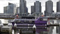 A Melbourne Party Boat charter vessel is moored in the Docklands area of Melbourne, Australia, on July 9, 2020