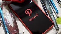 The Pinterest Inc. application is displayed on an Apple Inc. iPhone