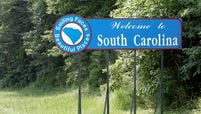 A welcome sign at the South Carolina state line