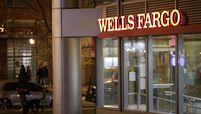 A Wells Fargo bank branch at night in Washington on Jan. 7, 2021