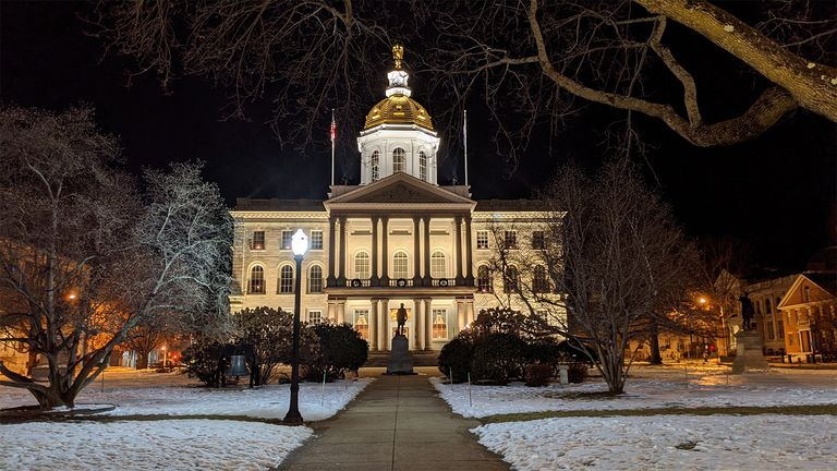 The New Hampshire Capitol in Concord