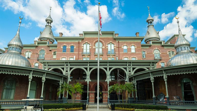 The Moorish influenced architecture of the University of Tampa, previously known as the Tampa Bay Hotel, in the downtown district