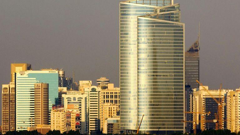The Abu Dhabi Investment Authority building in Abu Dhabi, United Arab Emirates