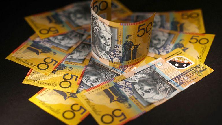 Australian $50 banknotes