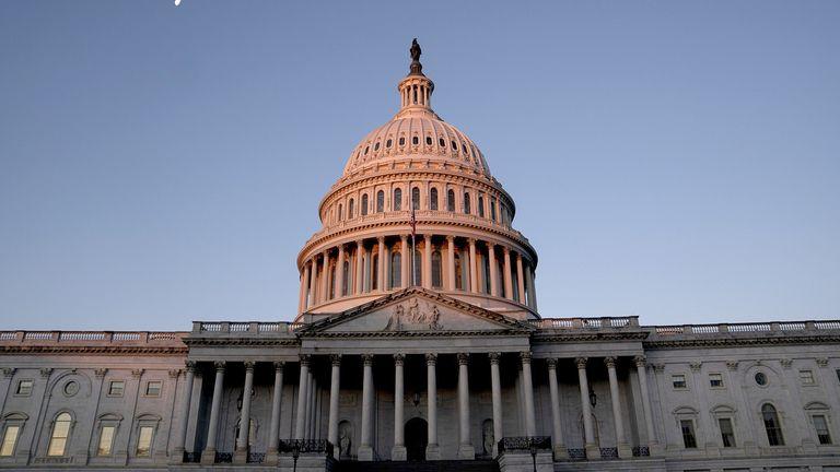 The U.S. Capitol at dawn in Washington on Jan. 4, 2021