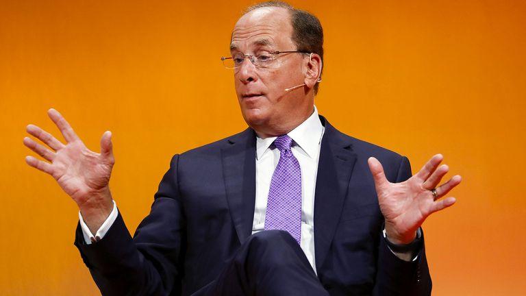 Larry Fink, chief executive officer of BlackRock Inc., speaks at the Handelsblatt Banking Summit in Frankfurt on Sept. 4, 2019
