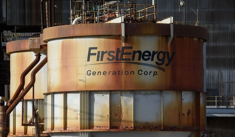 FirstEnergy Corp. Bruce Mansfield coal-fired power plant in Shippingport, Pa.