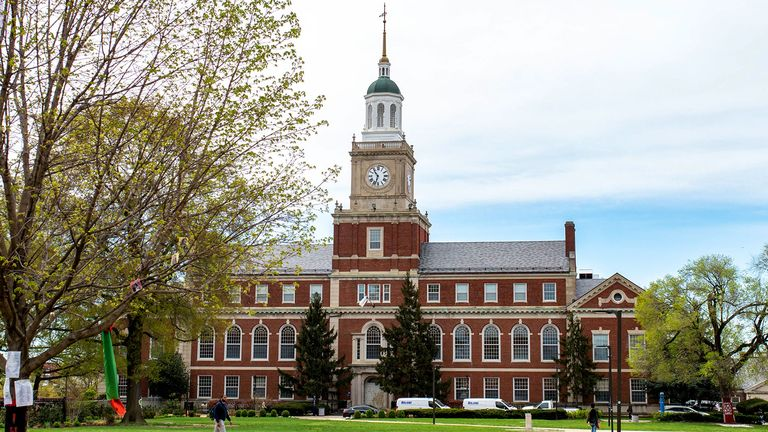 The Founders Library - MSRC, located on the upper Quad on the Howard University Campus