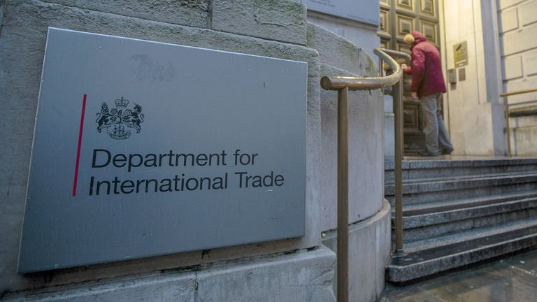 The Department for International Trade stands in London