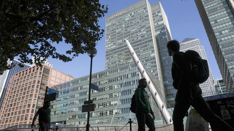 J.P. Morgan offices in London's Canary Wharf financial district