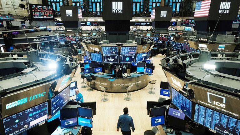 The trading floor of the New York Stock Exchange