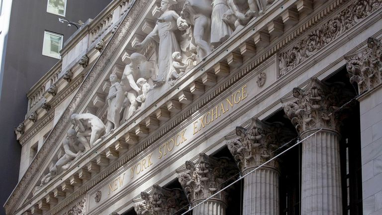 Close up of the New York Stock Exchange