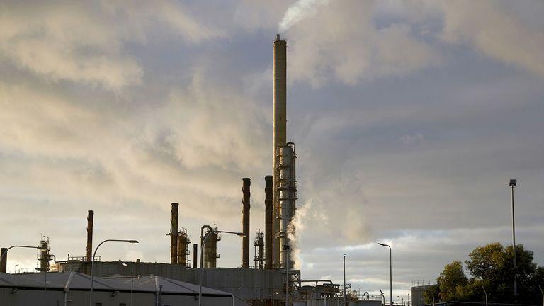 A smoke stack at the Exxon Mobile Corp. Altona refinery in Altona North, Victoria, Australia, on Feb. 14, 2021
