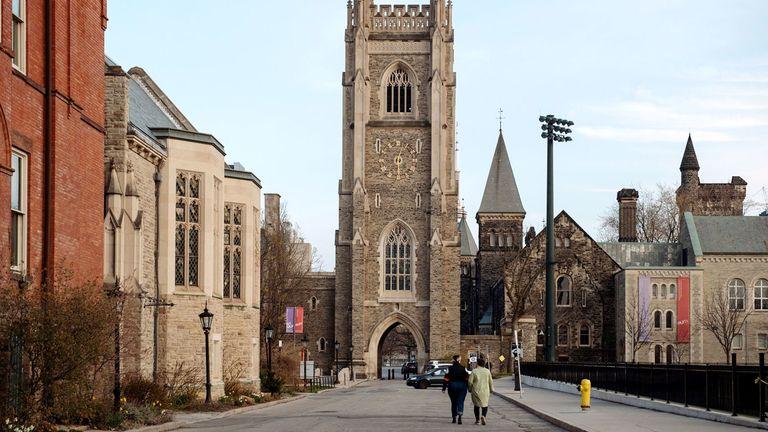 The campus of University of Toronto, Canada's largest university