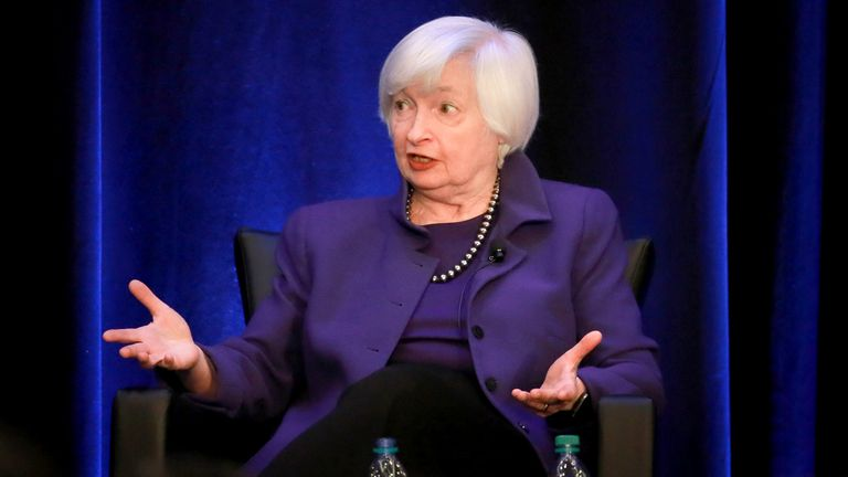 Newly appointed Treasury Secretary Janet Yellen
