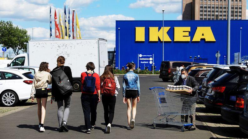 The parking lot of an Ikea store in Berlin