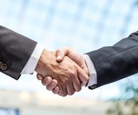 Handshake - closeup shot of hands
