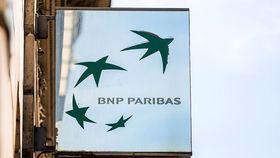 A BNP Paribas sign outside a BNP Paribas bank branch in Paris in 2017