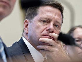 Jay Clayton, then-chairman of the SEC, listens during a House Financial Services Committee hearing in Washington on Sept. 24, 2019.