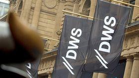 DWS logo on flags
