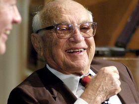 Nobel Prize-winning economist Milton Friedman in 2003