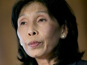Nellie Liang speaks during a financial stability analysis conference in Washington on May 31, 2013