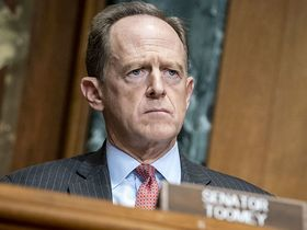 Senator Pat Toomey, R-Penn., listens during a Congressional Oversight Committee hearing in Washington on Dec. 10, 2020