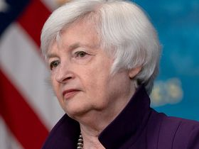 Janet Yellen, Treasury secretary, listens during an event in the Eisenhower Executive Office Building in Washington on June 15, 2021