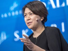 Haiying Zhao, chief risk officer at China Investment Corp., speaks during the Skybridge Alternatives conference in Las Vegas on May 17, 2017
