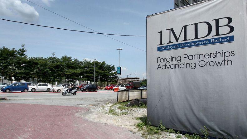 1 Malaysia Development Berhad sign outside construction site