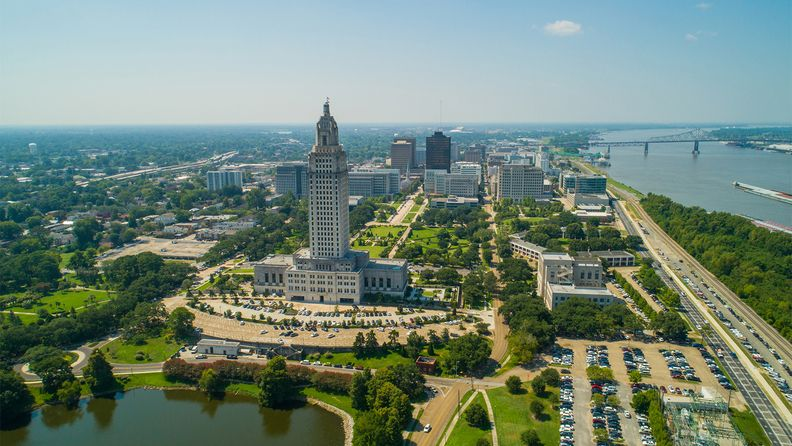 Aerial photo downtown of Baton Rouge, La.