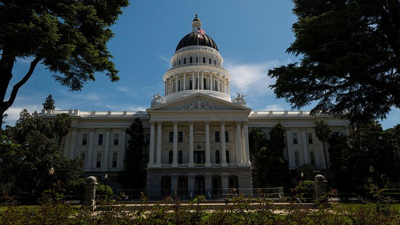 The California State Capital building stands in Sacramento