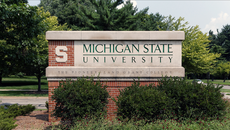 An entrance to Michigan State University in East Lansing