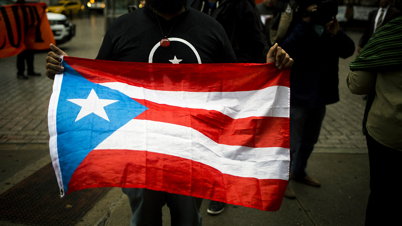 The Puerto Rican flag