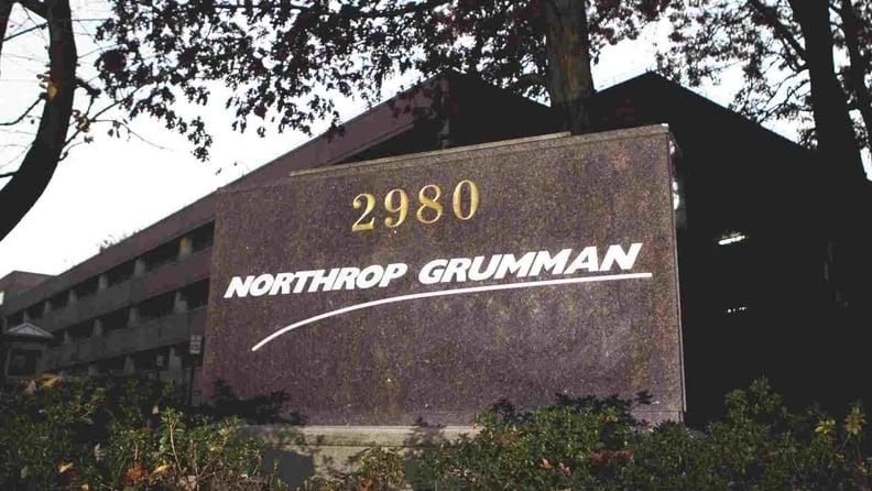 A Northrop Grumman Corp. sign at the company's headquarters in Falls Church, Va., on Nov. 16, 2012