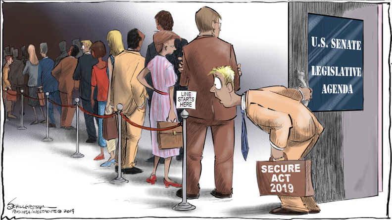 SECURE Act cartoon
