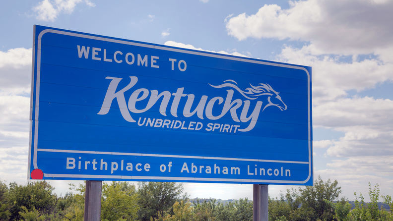 Welcome to Kentucky highway sign