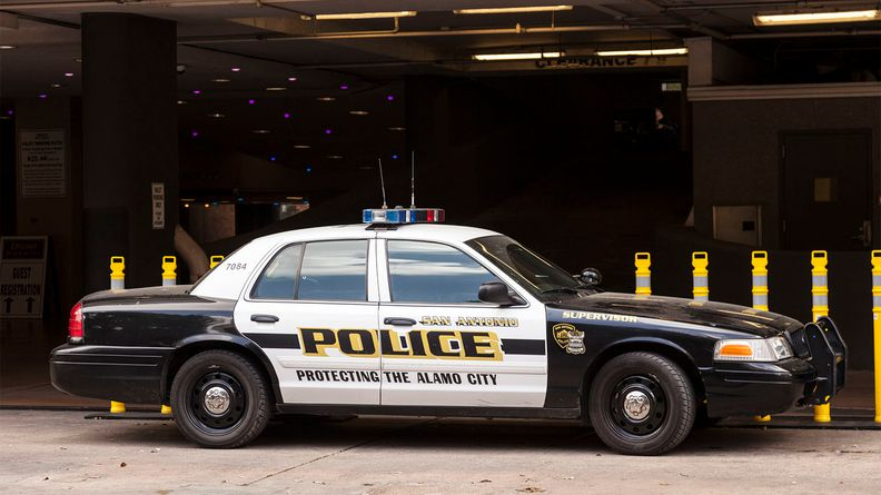 Police car in the city of San Antonio