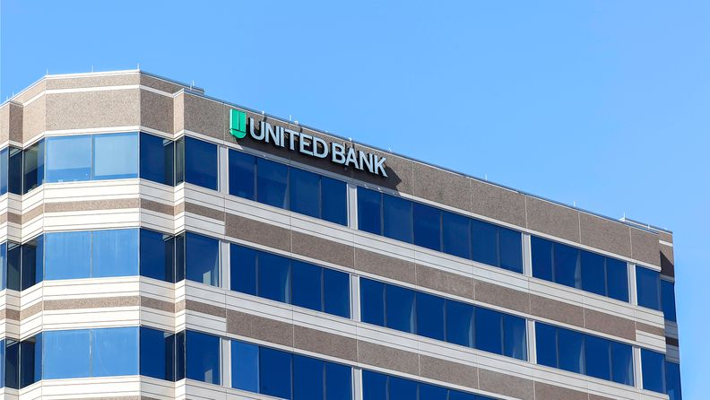 United Bank sign on the building in Washington.