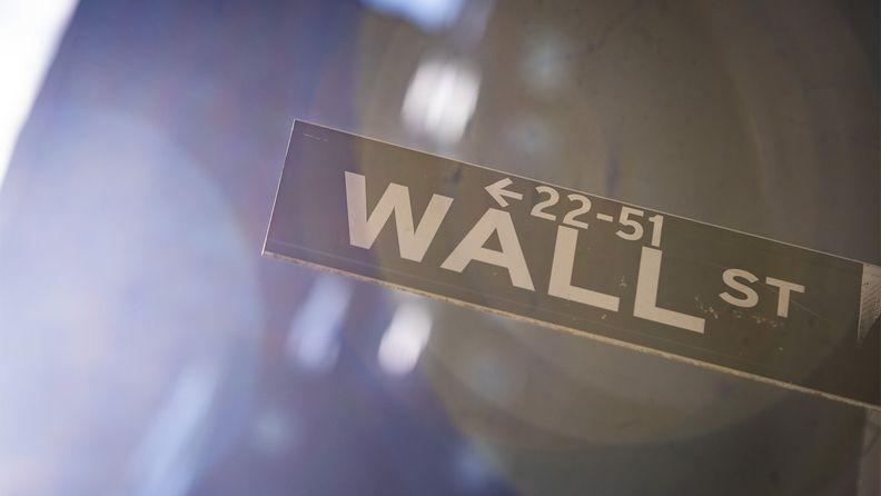 Wall Street street sign in New York